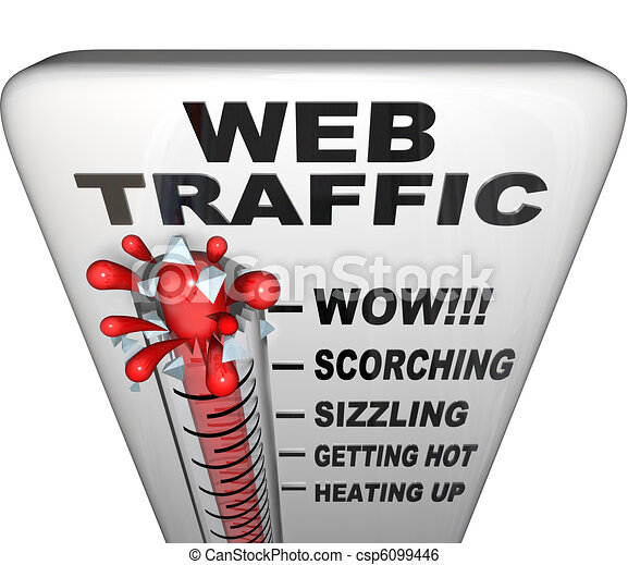 Web Traffic Thermometer - Popularity Increasing - csp6099446