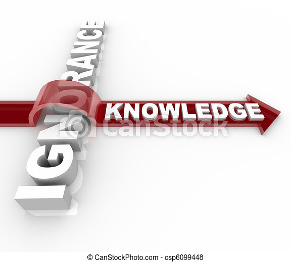 Ignorance vs Knowledge - Education Wins - csp6099448