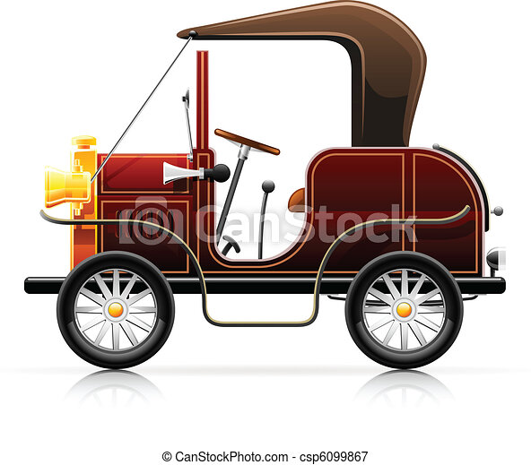 vintage red automobile - csp6099867