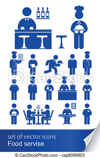 food service icon - csp6099903