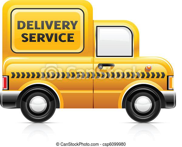 clipart vecteur de livraison service voiture service livraison voiture csp6099980. Black Bedroom Furniture Sets. Home Design Ideas