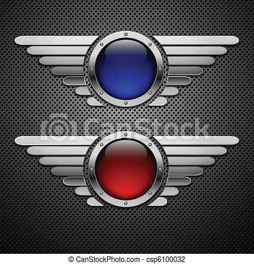 Shield with wings. Element for your design. Eps10 - csp6100032