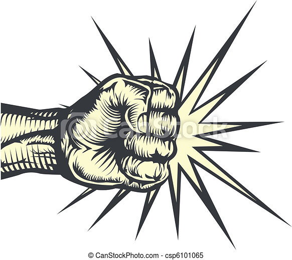 Fist punching - csp6101065