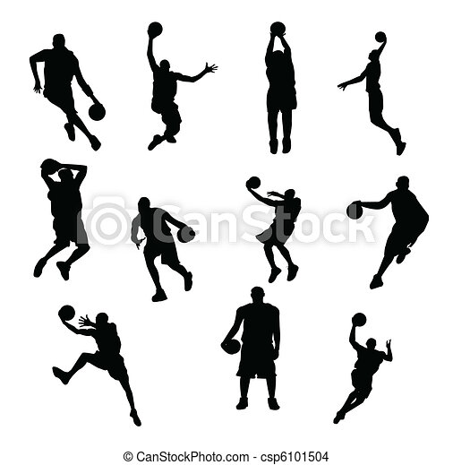 Basketball players vector - csp6101504