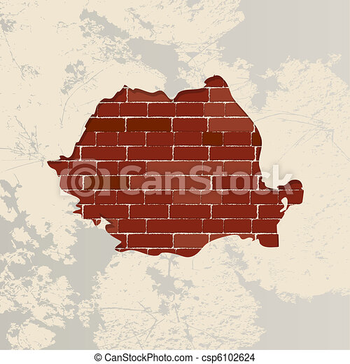Romania wall map - csp6102624