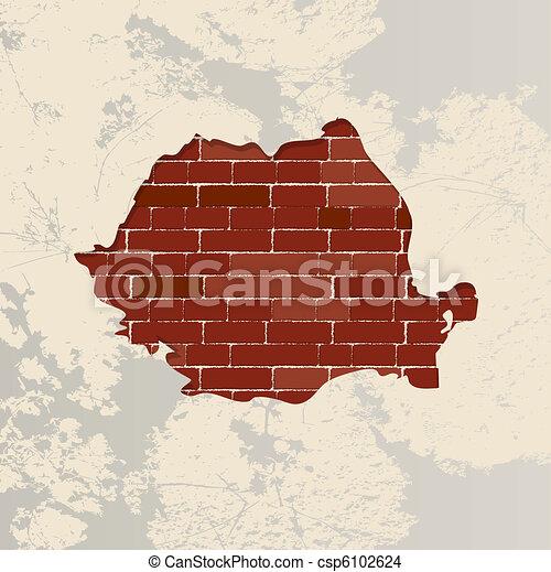Romania wall map - csp6102624