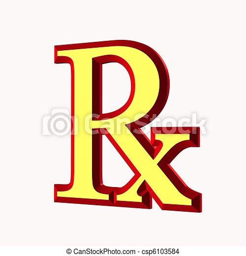 prescription symbol - csp6103584