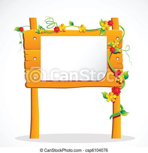 Wooden Notice Board - csp6104076