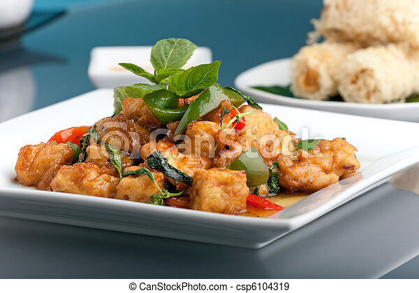 Thai Food and Appetizers - csp6104319