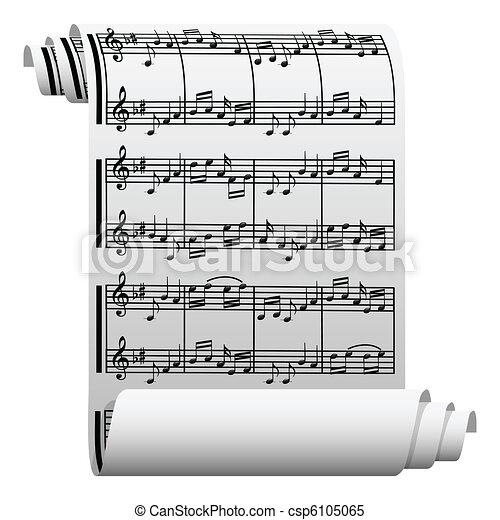 Music written on paper - csp6105065