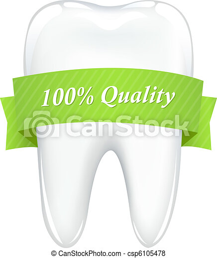 Tooth With Tape - csp6105478