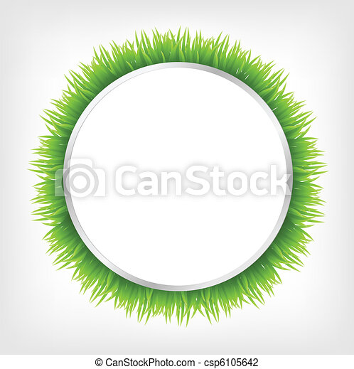 Circle With Grass - csp6105642