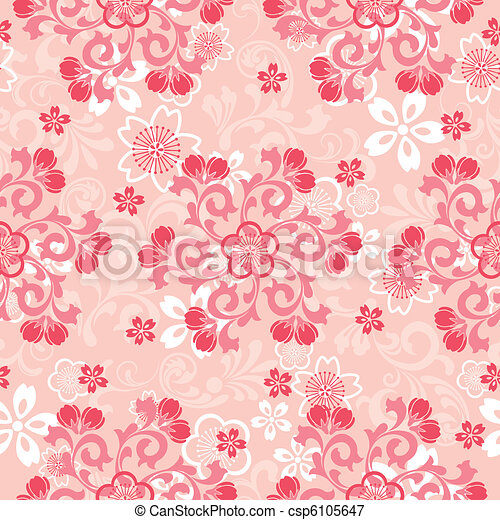 Abstract cherry blossoms pattern - csp6105647