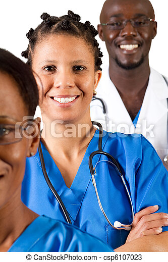 african medical professionals - csp6107023