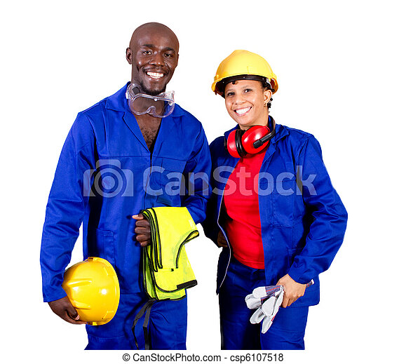 african american industrial workers - csp6107518