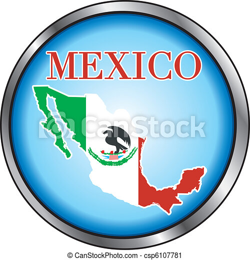Mexico Round Button - csp6107781