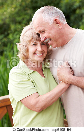 Elderly couple in love - csp6108154