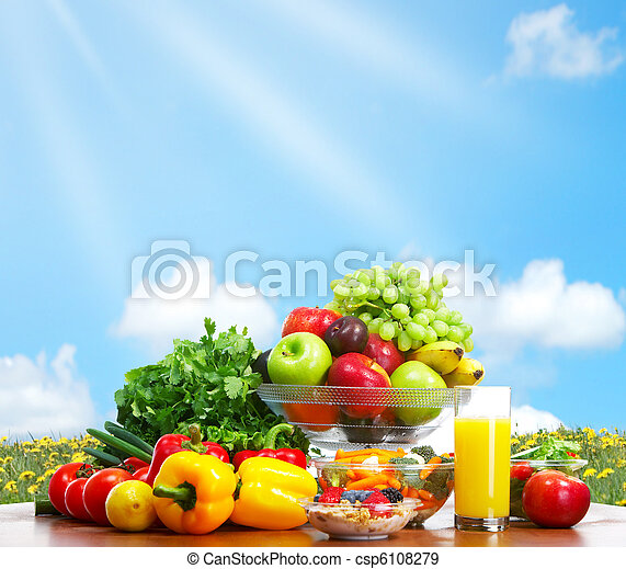 Vegetables and fruits - csp6108279