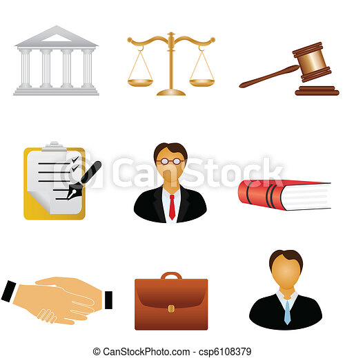 Justice and law icons - csp6108379
