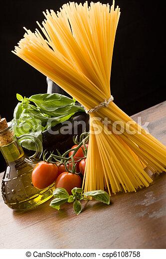 Ingredients for Italian pasta - csp6108758