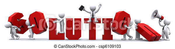 Finding solution. Conceptual business illustration - csp6109103