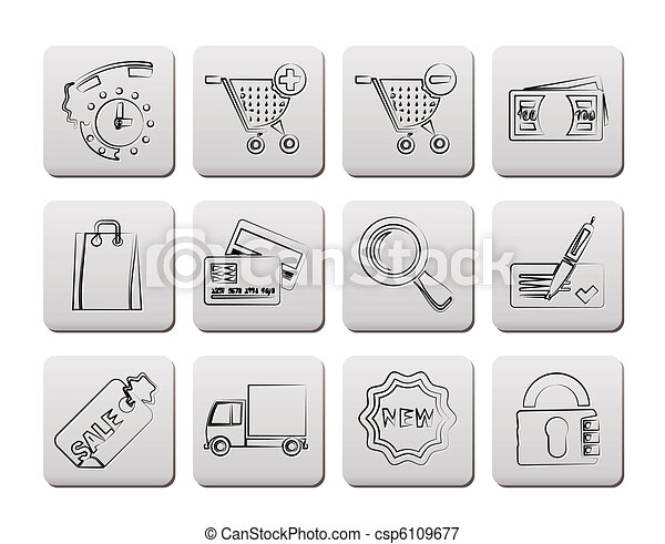 Internet icons for online shop  - csp6109677
