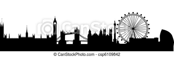London Silhouette black abstract - csp6109842