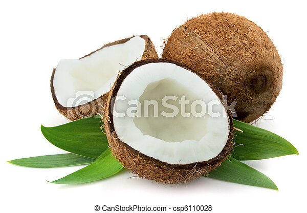 Coconut with leaves - csp6110028