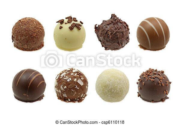 chocolate truffles assortment - csp6110118