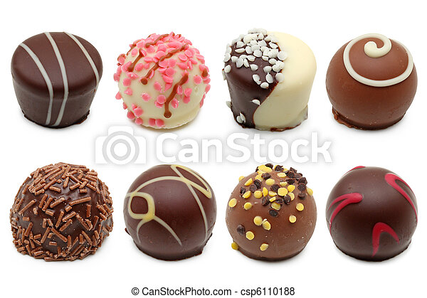 chocolate truffles assortment - csp6110188