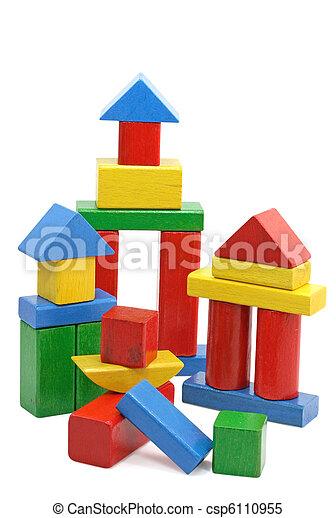 Wooden building blocks - csp6110955
