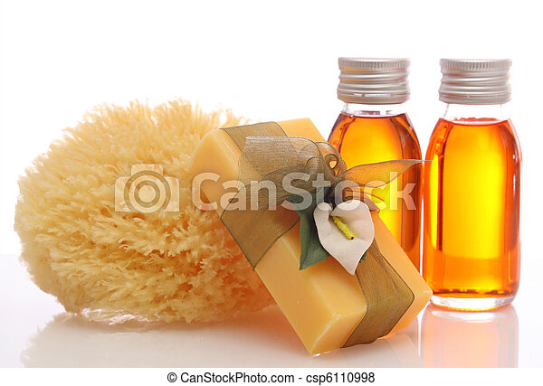 bottles with essential oils - csp6110998