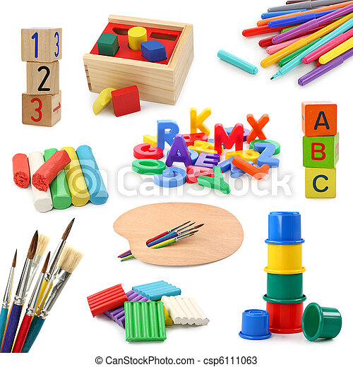 Preschool objects collection - csp6111063