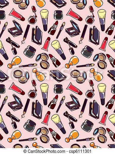 seamless makeup pattern  - csp6111301