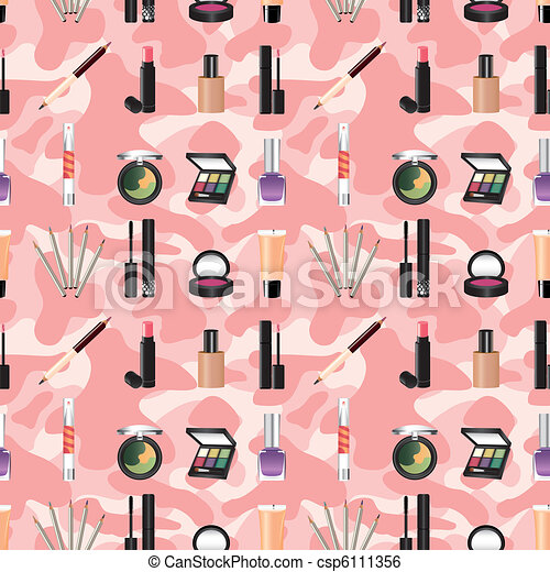 seamless makeup pattern - csp6111356