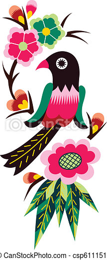 chinese oriental bird tree  - csp6111514