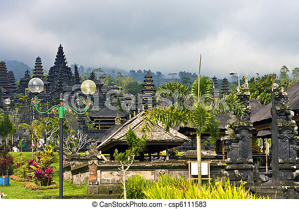 "The most big temple complex, ""mother of all temples "". Bali,Indonesia. Besakih. - csp6111583"