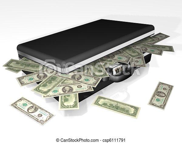 suitcase money - csp6111791