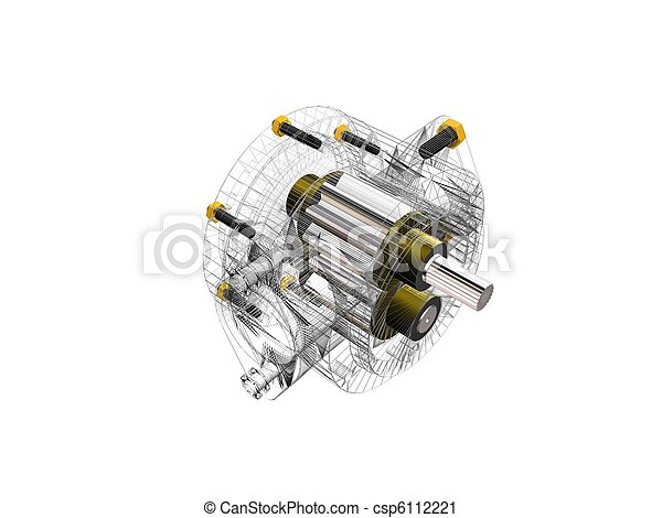 Three-dimensional drawing of the pu - csp6112221