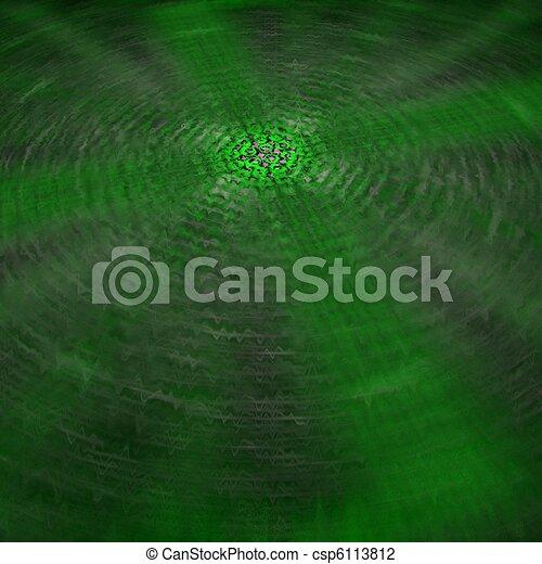 green vibrating lines - csp6113812