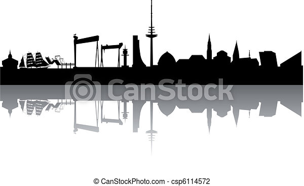 Kiel Skyline abstract - csp6114572