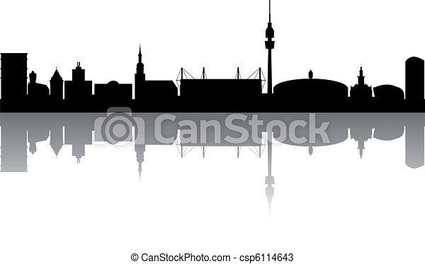 Dortmund Skyline abstract - csp6114643