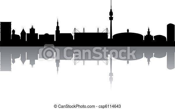 Dortmund Skyline abstract - csp6114643