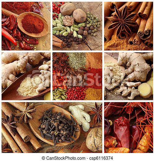 Spices collage - csp6116374