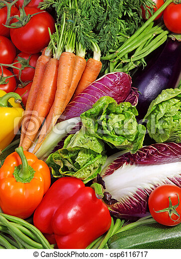 frisk, sortering, grönsaken - csp6116717