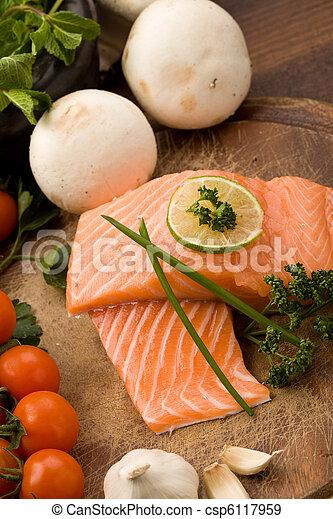 Salmon fillet - csp6117959