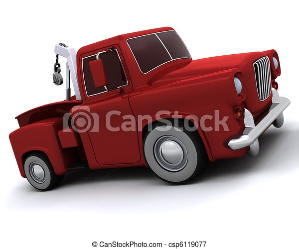 Caricature of 50's pickup truck - csp6119077
