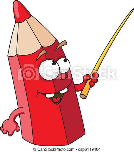 red school pencil - csp6119404