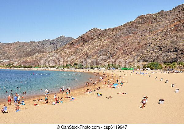 Teresitas beach. Tenerife island, Canaries   - csp6119947