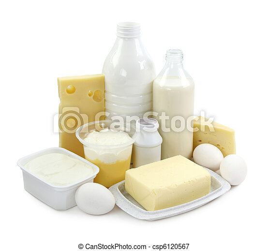 Dairy products and eggs - csp6120567